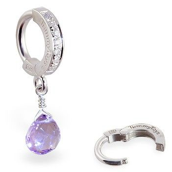 TummyToys® Lavender Amethyst CZ Clasp. Quality Belly Rings.