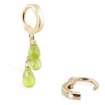 TummyToys® 14K Yellow Gold Peridot Navel Ring - Belly Button Rings