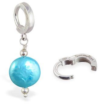 TummyToys® Marine Freshwater Coin Pearl. Belly Rings Australia.