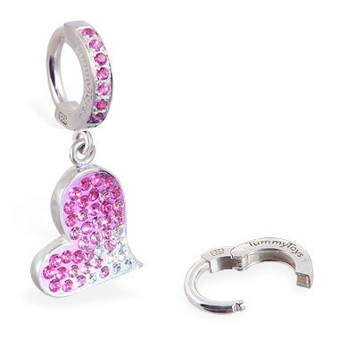 TummyToys® Paved Swarovski Heart. Shop Belly Rings.