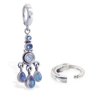 TummyToys® Boho Moonstone Huggy. High End Belly Rings.