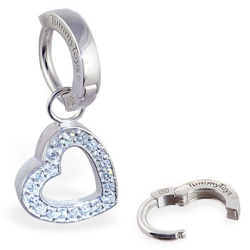 TummyToys® Silver Floating Heart Swinger. Shop Belly Rings.