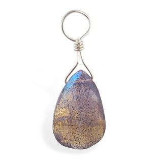 TummyToys® Faceted Labradorite Swinger Charm - Belly Button Rings