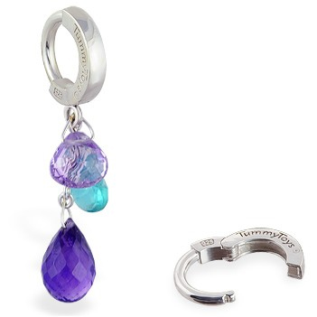 TummyToys® Spring Multi Gem Cluster. Belly Rings Australia.