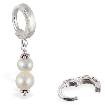 TummyToys® Freshwater Pearl Belly Ring. Belly Bars Australia.
