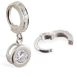 TummyToys® Paved Silver Bezel Set